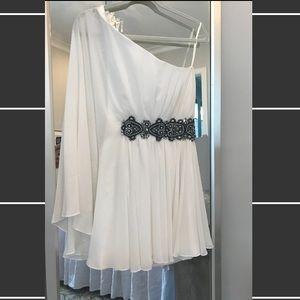 Jovani One Shoulder Drape Dress